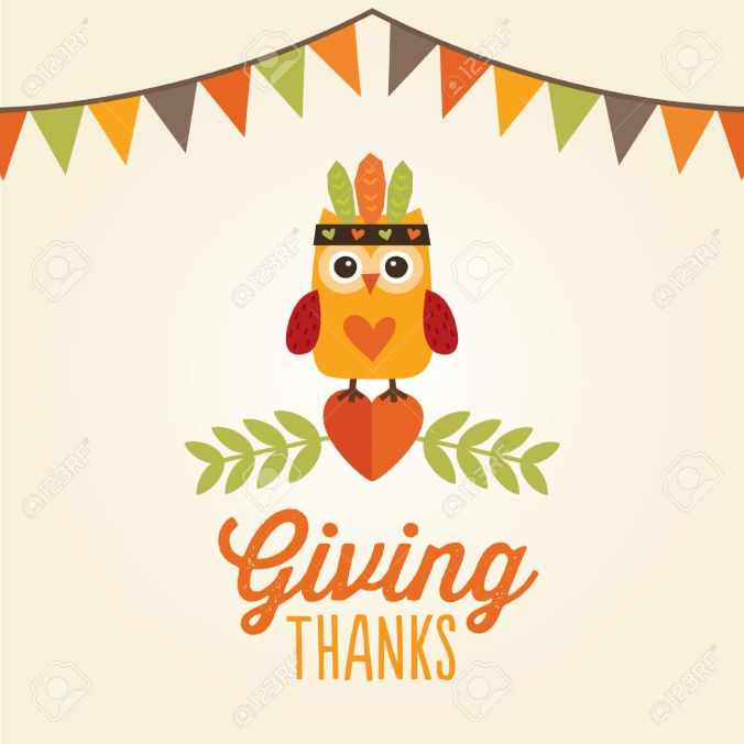 37185513-happy-thanksgiving-day-card-poster-or-menu-design-with-bunting-flags-and-cute-owl-in-native-american-stock-vector